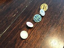 Lot Of 5 - Assorted Plastic Golf Ball Markers