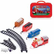 Christmas Xmas Train Express 16pc Battery Operated Track Sound Tree Decoration