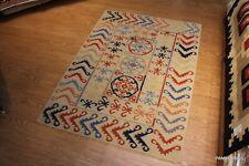 Caucasian Design  5x7 FT. Southwestern Kazakh handmade tribal kilim RUG