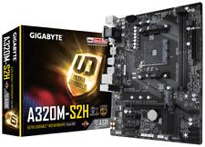 Gigabyte Ultra-Durable GA-A320M-S2H AMD AM4 A320 Motherboard (mATX) RAID Gigabit
