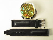 Mechanical watch Raketa Polar bear, 24 hour, gold holo dial, 39 mm.