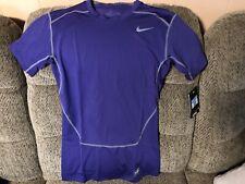 Nike Pro Combat Men's Dri Fit Royal Purple Short Sleeve Compression Size Xl Nwt