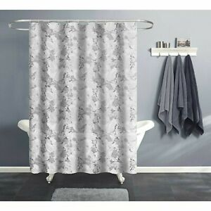 India Ink Gray Marble bubble Design PEVA Shower Curtain Liner 70x72