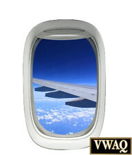 Airplane Window Decal Sky Clouds Mural Peel and Stick Aviation Decor VWAQ A02