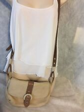 RADLEY LONDON WOMEN'S LEATHER  CROSS BODY HANDBAG  Tan purse small rope accent