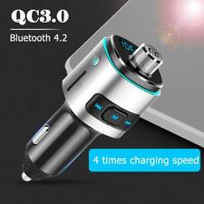 Bluetooth 4.2 FM Transmitter 10m Handsfree Car Kit MP3 Player QC3.0 USB Charger