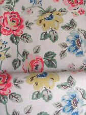 50cm x 45cm Wide Cath Kidston Rainbow Rose On Cream 100% cotton Duck new Fabric