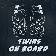 Baby Twins On Board Car Or Laptop Decal Vinyl Sticker For Window Bumper Panel
