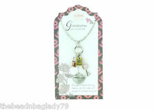 NEW JILZARA Clay Beads GRANDMOTHER Pendant Necklace KEY LOCK HEART HUGS CHARM