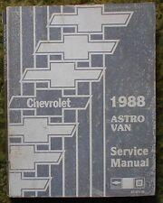 1988 Chevrolet Astro Van Truck Electrical Shop Manual Set of 2 88