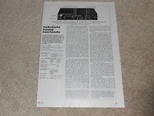 Yamaha C-70 Preamp Review, 2 pg, 1983, Rare Info!