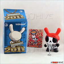 Kidrobot Dunny 2011 series figure Rock n' Roll by Elphonso Lam original box card
