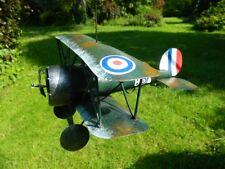 Airplane Biplane Metal Plane Ornament Tealight Holder WW1 - RAF Sopwith Camel