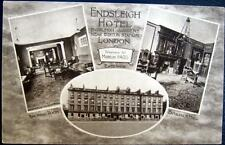UK~ 1920's LONDON ~ ENDSLEIGH HOTEL ~ Near Euston Station ~ Real Photo PC  RPPC