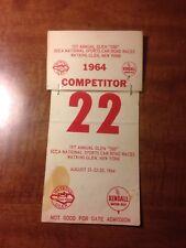 1964 Watkins Glen 500 Competitor Pass