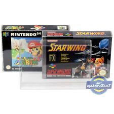 20 X N64 Snes protectores de la caja del juego para Super Nintendo 0.5mm plástico caso de exhibición