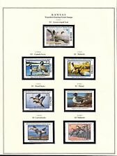 STATE OF KANSAS HUNTING PERMIT STAMPS 1987-2003 MOUNTED ON 3 PAGES BT6304