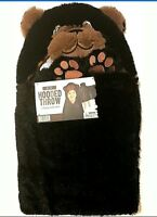 Black Ladybug Best Brands Character Hooded Throw 27 in X 52 in