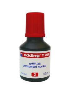 Edding T25 ROT 30ml Nachfüll-Tusche refill ink. Tinte für Permanent marker NEU!