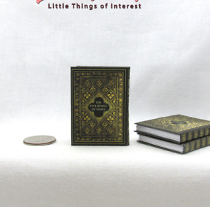 1:6 Scale The FIVE BOOKS Of MOSES Miniature Playscale Readable Book