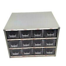 Vintage ASTATIC Metal Storage Case Plastic Drawer Organizer