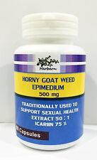 500MG x 60CAPS EPIMEDIUM HORNY GOAT WEED EXTRACT 50:1, ICARIIN 75% HIGH QUALITY