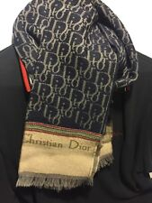 Christian Dior Logo Men's Scarf, 100% Authentic, Pure Merino Wool