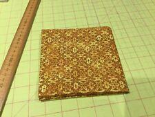 Fabri-Quilt - 'Fall's Tapestry' Gold Mixer Fabric - 100% Cotton- Fat quarter