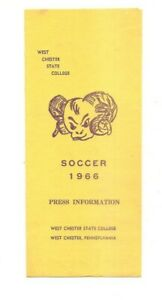 1966 West Chester State College soccer press information brochure