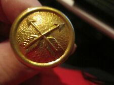 Crossed Arrow Brass Button