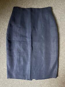 The Row Navy Pencil Skirt Size 10