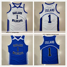 Damian Lillard #1 Oakland High School Basketball Jerseys Wildcats 4 Colors
