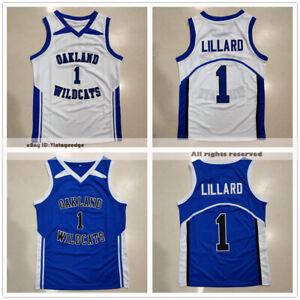 Damian Lillard #1 Oakland High School Basketball Jerseys Wildcats 4 Colors