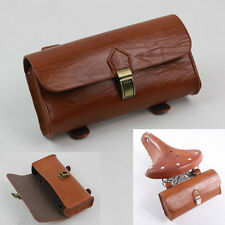 Handmade Retro Vintage Bicycle Bike Saddle Pouch Bag PU Leather Cycling Rear Box