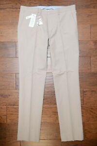 Lacoste HH1569 $195 Mens Slim Fit Sand Cotton/Linen Casual Dress Pants W40 EU 50