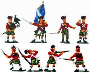 Timpo Painted Highland Infantry  - 14 in all 8 poses, painted by Timpo, 54mm