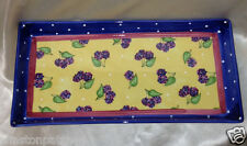 "ESSEX COLLECTION BOIS D'ARC TUTTI FRUTTI RECTANGULAR TRAY 13 1/4"" BLACKBERRY"