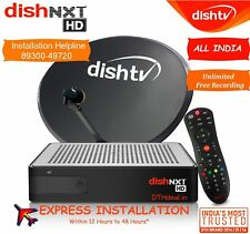 Dish TV HD- DISHTV HD+ DTH Set Top Multi Box with 1 Month HD Pack *Free*