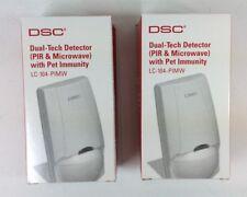 2 LOT DSC SECURITY LC-104-PIMW DUAL-TECH PIR & MICROWAVE WITH PET IMMUNITY ALARM