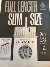 L1-6 Ephemera 1960 Folded Advert Churchmans Olympic Cigarettes Full Length