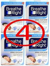 breathe right 120 ct CLEAR LARGE nasal strips (4/SKY X 30 ct)