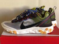 Nike React Element 87 Moss AQ1090-300 Mens Running Shoes Sneakers NIB