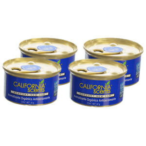 California Scents Spillproof Organic Canister Air Fresheners Newport New Car-4PK