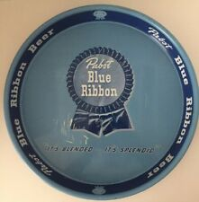 "Vintage Pabst Blue Ribbon Beer Tray - ""It's Blended...It's Splendid"" - 13"" x 1¾"""