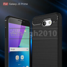 For Samsung Galaxy J3 2017 J327P J327T J327V Shockproof Armor Carbon Fiber Case