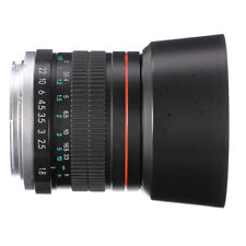 85mm F/1.8 MF Manual Focus Lens for Canon EOS 5D 6D 7D II III 2 80D DSLR Camera