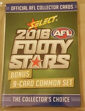 2016 AFL Select Footy Stars 9 Card BONUS SET.