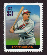 UNITED STATES, SCOTT # 3408-F, SINGLE STAMP OF ROGERS HORNSBY, BASEBALL LEGEND
