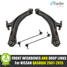 For NISSAN QASHQAI FRONT LOWER WISHBONES ARMS & DROP LINKS LEFT RIGHT 07> J10