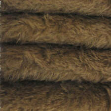 "1/4 yd 300S/C Antq Brown INTERCAL 1/2"" Ultra-Sparse Curly S-Finish Mohair Fabric"